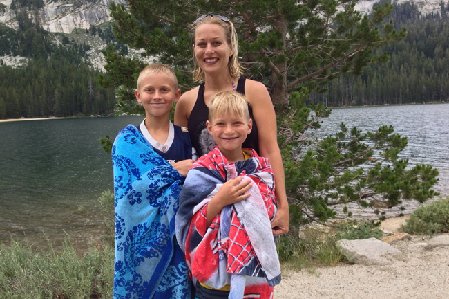 Christy Pohlmann and her sons Christopher and Zachary